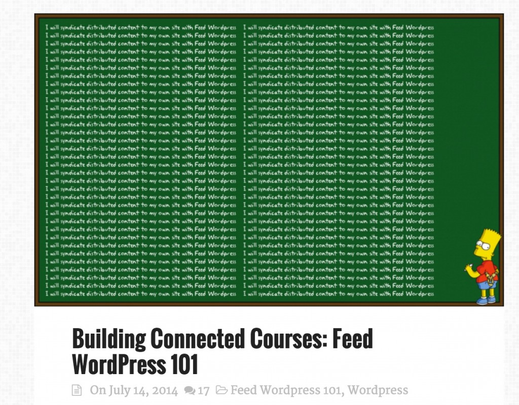 feedwordpress101